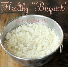 Bisquick Facts - Maria Mind Body Health DMR: Low carb baking mix using almond flour, protein powder, and coconut oil.with muffin recipe Bisquick Recipes, Gluten Free Recipes, Low Carb Recipes, Cooking Recipes, Gluten Free Bisquick Mix Recipe, Diabetic Recipes, Bisquick Homemade, Carbquik Recipes, Gluten Free Baking Mix