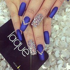 Imagem de nails, blue, and style