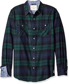 YUNY Mens Long Sleeve Button Regular Fit Oversized Plaid Western Shirt 13 S