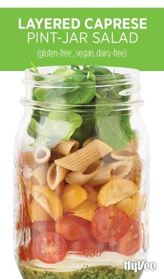 Banish sad desk lunches forever with a Layered Caprese Pint-Jar Salad. It tastes a little like summer and sunshine.