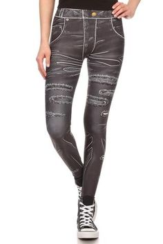 Comic Black Jeans Leggings - POPRAGEOUS - 1