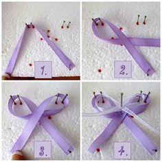 wedding ribbon to lapel Diy Bow, Diy Ribbon, Ribbon Crafts, Flower Crafts, Ribbon Bows, Wedding Bows, Diy Wedding Favors, Wedding Decorations, Wedding Souvenir