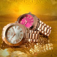 """With a chunky 40mm case, this Metal TKO watch  is a fashion piece that gets noticed.  Easily size the watch to you  wrist with the adjustable fold over clasp. Its eye-catching metallic  case and bracelet combine with a sleek dial for a pop of color that will make your friends green with envy!""""                                                                                                                              Specifications…"""