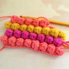 Puff or Bobble Stitch Crochet Tutorial