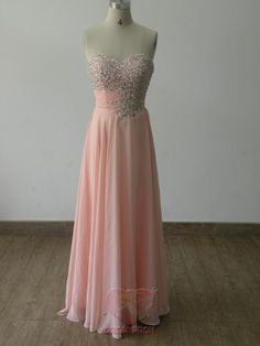 2013 Custom Handmade Sweetheart Pink Beaded by angeldreamprom, $126.99 Very pretty!