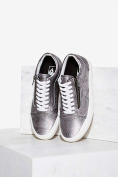 c4e803d0511896 Vans Old Skool Zip Leather Sneaker - Silver Python | Shop Shoes at Nasty  Gal!