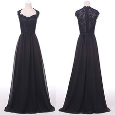 STOCK Black Lace Applique Ball Gown Formal Evening Prom Party Long Dress US 2~16 #GraceKarin #BallGown #Formal