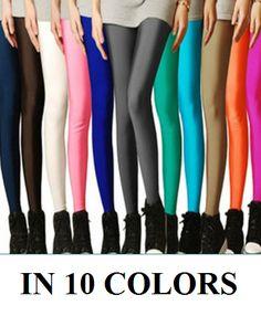 Women's Candy Color Plain Leggings