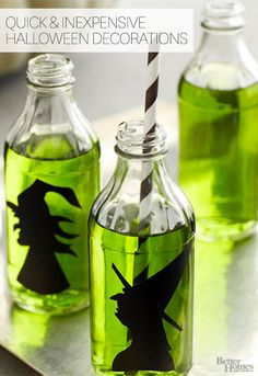 Pick your poison! We love these goulishly gorgeous Halloween party decorations: http://www.bhg.com/halloween/parties/ghoulish-gothic-halloween-party/?socsrc=bhgpin081014anancientwelcome