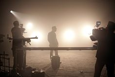 """On set at the video shoot for Jerrod's """"Only God Could Love You More"""" music video."""