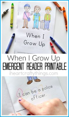 Use this Preschool Emergent Reader Printable to help preschoolers learn the sight words I, can, be and a. This emergent reader is great for a community helpers or When I Grow Up preschool or kindergarten unit.