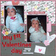 My first Valentines Day - Scrapbook.com
