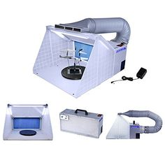 Master Airbrush® Brand Portable Hobby Airbrush Spray Booth with LED Lighting for Painting All Art, Cake, Craft, Hobby, Nails, T-shirts & More. Includes Our Exhaust Extension Hose That Extends up to 5.6 Feet. Master Airbrush http://www.amazon.com/dp/B00NLQ019A/ref=cm_sw_r_pi_dp_YnGJub1255C90