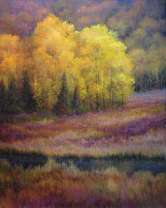 Paula Ann Ford, Peak, Soft Pastels on Art Spectrum Colorfix, Colorful Art, Art Painting, Pastel Art, Autumn Painting, Fine Art, Impressionist Art, Pastel Painting, Painting, Art