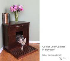 corner kitty litter
