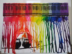 Crayon art Two owls by FruitfulArt on Etsy