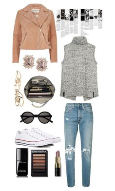Sans titre #23 by cacoco on Polyvore featuring polyvore, fashion, style, Fat Face, River Island, Levi's, Converse, Esperos, GUESS, Yves Saint Laurent, Bobbi Brown Cosmetics, Chanel and clothing