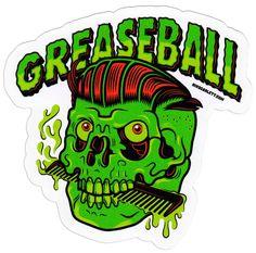 NIK SCARLETT GREASEBALL STICKER $2.00 #nikscarlett #sticker #greaser #psychobilly
