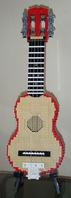 Ukelele LEGO. Made by Ross Crawford. The amazing thing? The sound quality of the instrument isn't bad!