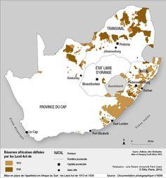 Mise en place de l'apartheid en Afrique du Sud : les Land Act de 1913 et 1936