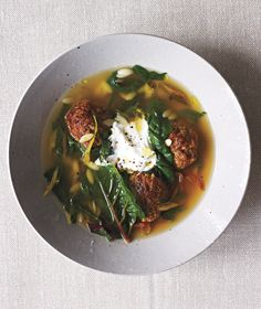 Spiced Lamb Meatball and Swiss Chard Stew   A sensational dinner doesn't require a sinkful of dirty dishes. Each of these six comforting recipes can be made in a single bowl.