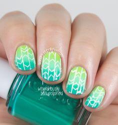 Wondrously Polished: Geometric Gradient Nail Art