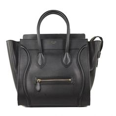 6757ddf54f0e celine Luggage Mini Black Leather Tote Bag (79.485 RUB) found on Polyvore Celine  Tote
