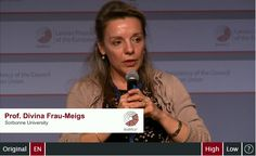Panel discussion: Prof. Divina Frau-Meigs, Sorbonne University