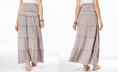 INC International Concepts Tiered Maxi Skirt, Only at Macy's - Skirts - Women - Macy's