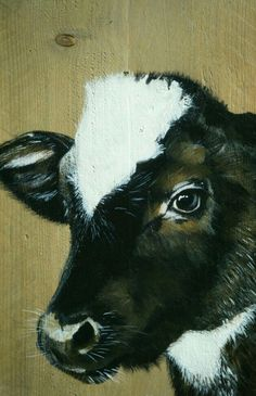 Cow Paintings On Canvas, Animal Paintings, Canvas Art, Pallet Painting, Tole Painting, Painting & Drawing, Cow Pictures, Barnyard Animals, Farm Art