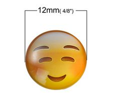 Check out 20 Emoji Cabochon glass dome seal, 12mm face seal, 12mm Cabochons, Flatback dome, 9932, 309a on vickysjewelrysupply