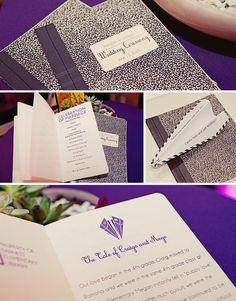Composition Books Wedding Programs by Megan Manning (posimachine.prosite.com)