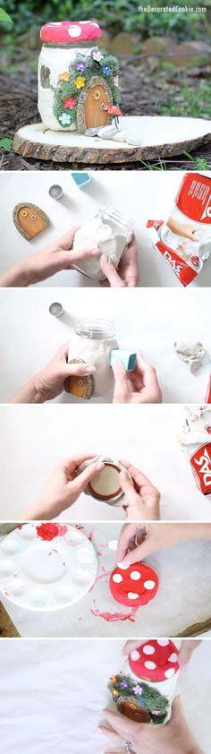 DIY Mason Jar Fairy House.