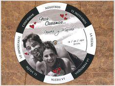 Invitaciones de casamiento #Casamiento #Boda #wedding #2016 #novedad #cononda #casamientos.com.ar #nuevas #imprenta #invitaciones #participaciones #personalizadas #giratorias #circulares #movibles