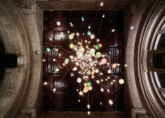 Bocci chandelier at the V&A for London Design Festival 2013