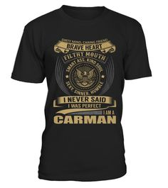 # Best CARMAN is a perfect name front Shirt .  shirt CARMAN is a perfect name-front Original Design. Tshirt CARMAN is a perfect name-front is back . HOW TO ORDER:1. Select the style and color you want:2. Click Reserve it now3. Select size and quantity4. Enter shipping and billing information5. Done! Simple as that!SEE OUR OTHERS CARMAN is a perfect name-front HERETIPS: Buy 2 or more to save shipping cost!This is printable if you purchase only one piece. so dont worry, you will get yours.