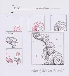 Nieuwe tangle Joki - Kim & Zo Creations