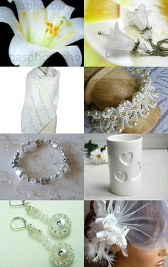 Lily White Wedding by KIT on Etsy--Pinned with TreasuryPin.com