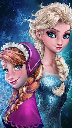 let it go frozen sisters wallpaper Frozen Elsa & Anna Digital Fan Art Wallpapers