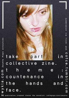 """zwykla:  Zine """"countenance"""" – it's an open form of publication in which you can also have a chance to present your own works related to the ..."""