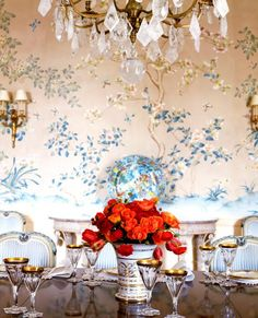 Ethnic Chic - Home Couture writes about a selection of high end dining tables. Get inspired with table decors for dining rooms.