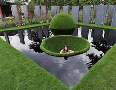 If you've been considering adding a water feature to your garden, but aren't sure where to start, the DIY backyard pond design ideas in this post are creative examples of what you can achieve. Backyard Water Feature, Ponds Backyard, Backyard Landscaping, Landscaping Ideas, Garden Pond Design, Garden Art, Landscape Design, Dream Garden, Design Fonte