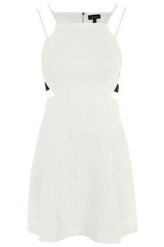 Textured Cut-Out Dress