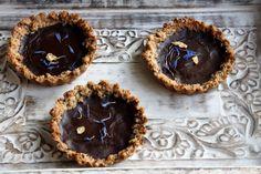 Vegan Chocolate tarts  - refined sugar free, gluten free  see more at www.pomegranatenation.co.uk