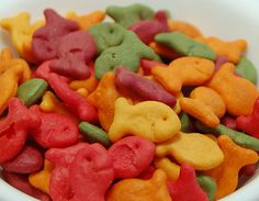 sort of healthy snack??? rainbow goldfish crackers?