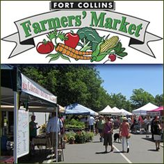 Date idea: pick up the ingredients for dinner at the farmers market / Fort Collins Farmers Market, Fort Collins, Colorado