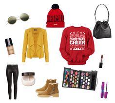 winter street fashion by nunnapat-grimaldi on Polyvore featuring polyvore, Mode, style, M&S Collection, H&M, Zara, Illesteva, Laura Mercier, Giorgio Armani, Maybelline, MAC Cosmetics, Smashbox and Louis Vuitton