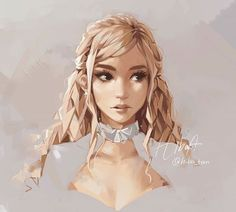 Realistic Portrait Drawing by Hiba_tan Pretty Art, Cute Art, Hiba Tan, Drawn Art, How To Draw Hair, Character Design Inspiration, Looks Cool, Portrait, Female Characters