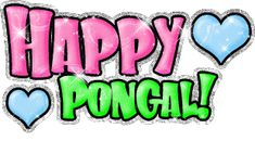 Happy Pongal Glitter