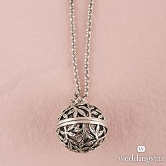 Filigree Vine Orb Locket with Chain - Doubles as an aromatherapy necklace!